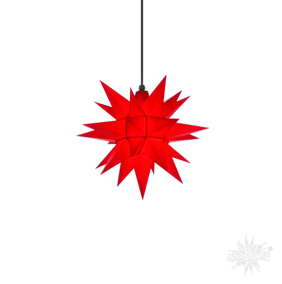 Herrnhuter Stern Außen, A4, 40cm, Rot, Adventsstern, Weihnachtsstern