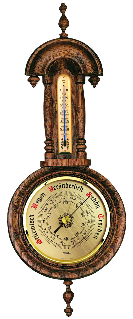 Barometer Thermometer, Eiche rustikal